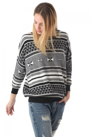 Suéter de punto con estampado