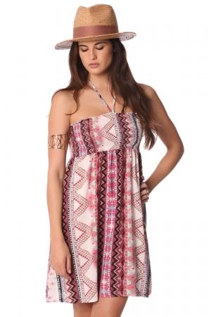 Vestido estampado azteca