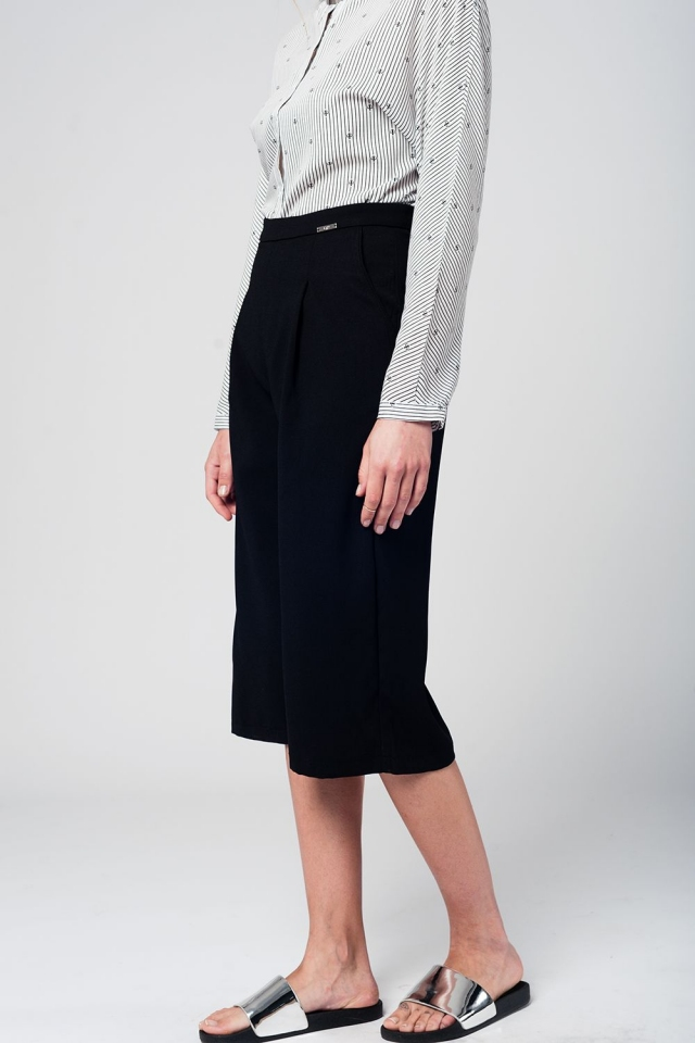 Culottes de sastre en color negro