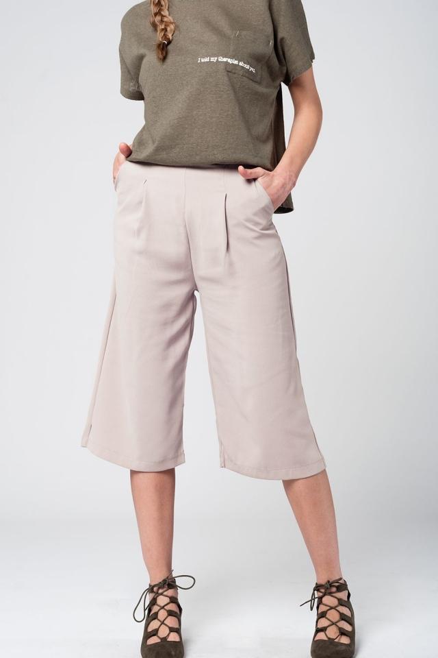 Culottes de sastre en color beige