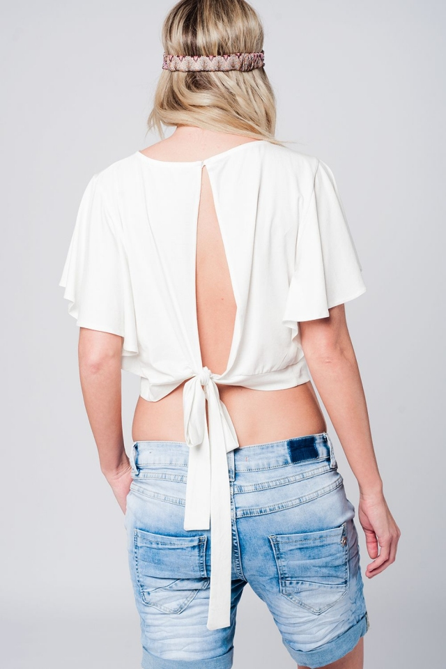 Crop top en color blanco