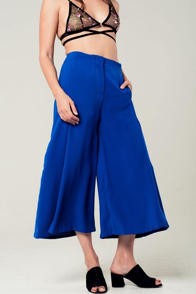 Culottes en color azul eléctrico