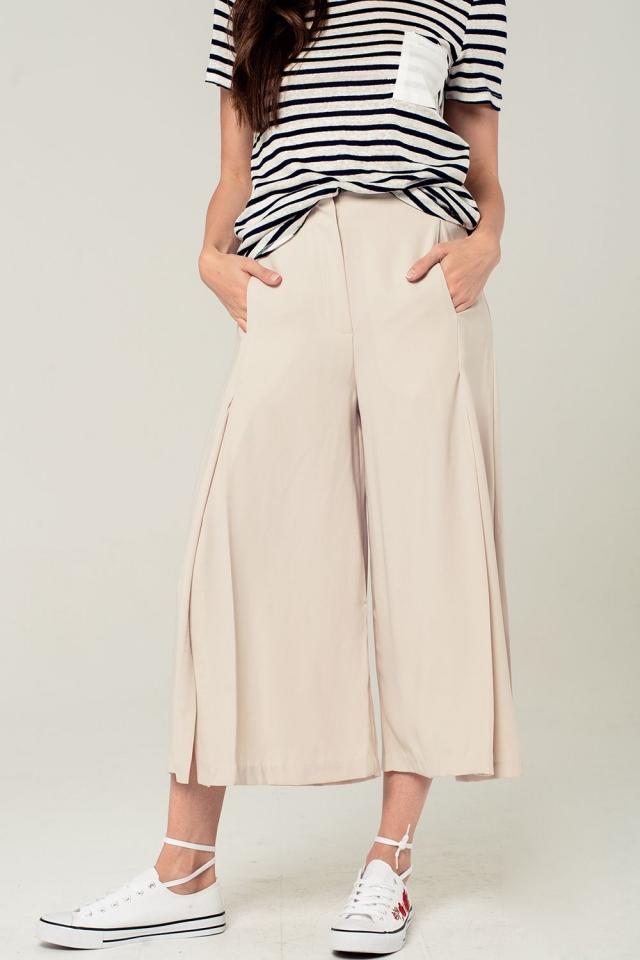 Culottes en color beige