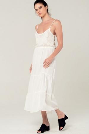 Vestido de croché en blanco