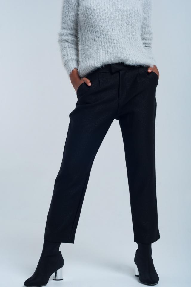 Pantalón negro brillante