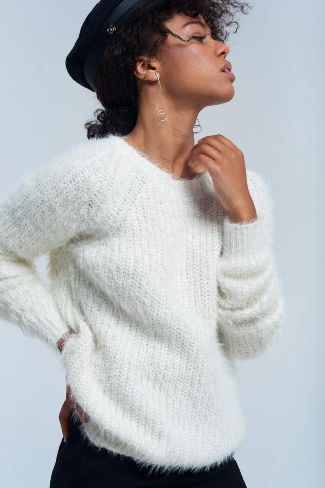 Suéter de punto crema