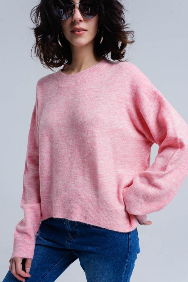 Jersey oversized rosa