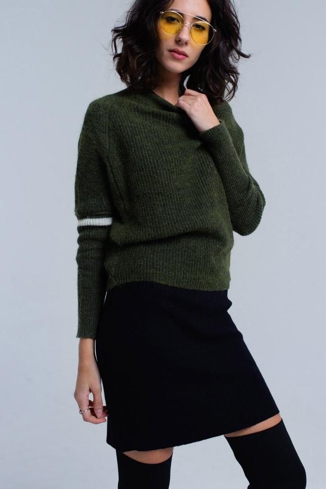 Jersey acanalado en verde