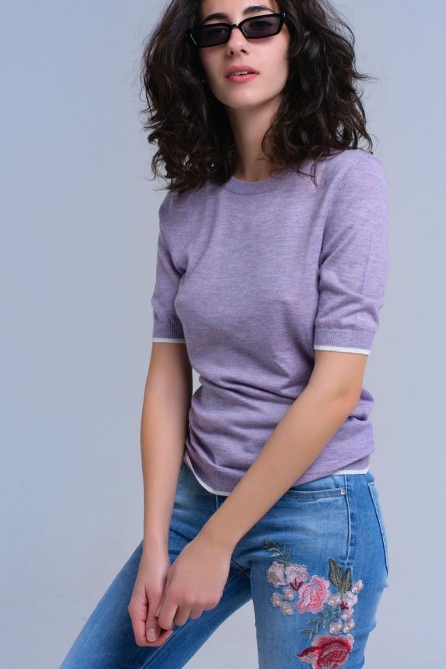 Jersey morado de manga corta