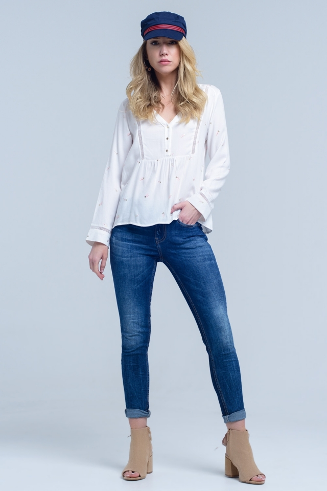Jeans skinny de talle medio