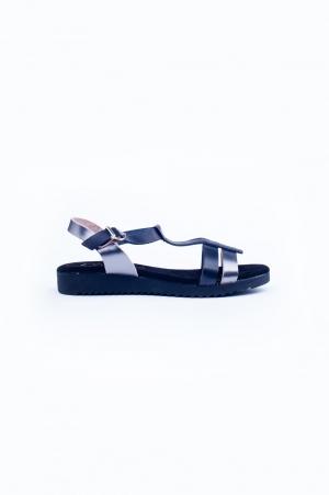 Black chunky flat sandals