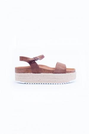 Brown espadrille sandals