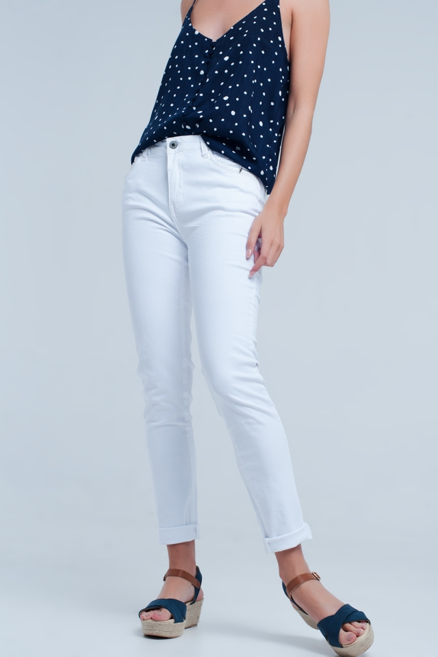 7fa71432c6 Nueva colección White jeans with detail in the pocket