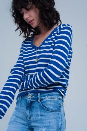 Jersey ligero a rayas azules