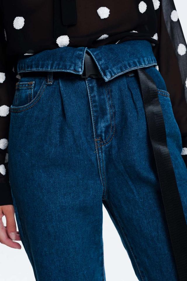 Jeans estilo paper bag