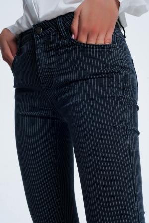 Pantalon a rayas en negro