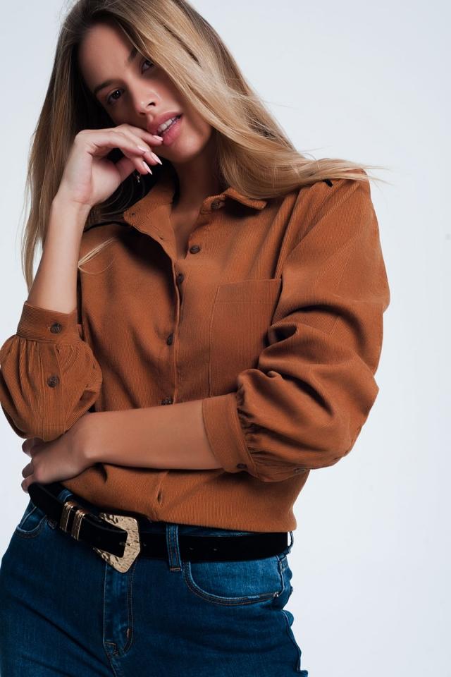 Camisa marron de pana
