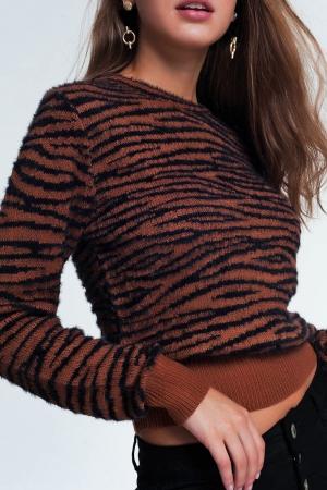 Jersey con estampado de tigre por toda la prenda