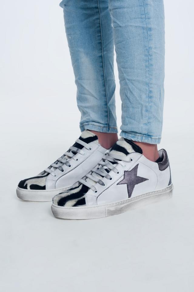 Zapatillas con diseño de cebra