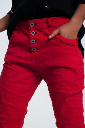 Vaqueros de corte original en rojo