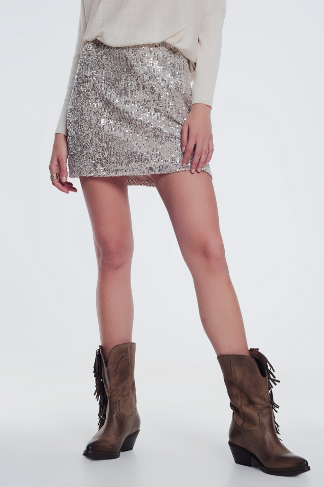 Falda de lentejuelas paillette