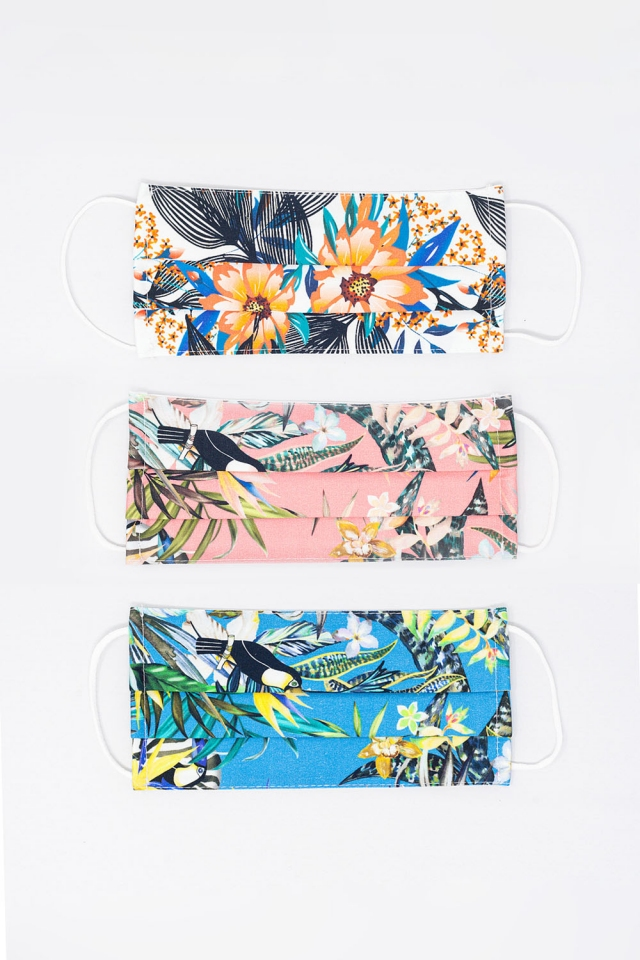 Paquete de 3 unidades Mascara Tropical Mix Color