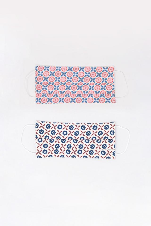 Paquete de unidades Mascarillas con estampado geometrico