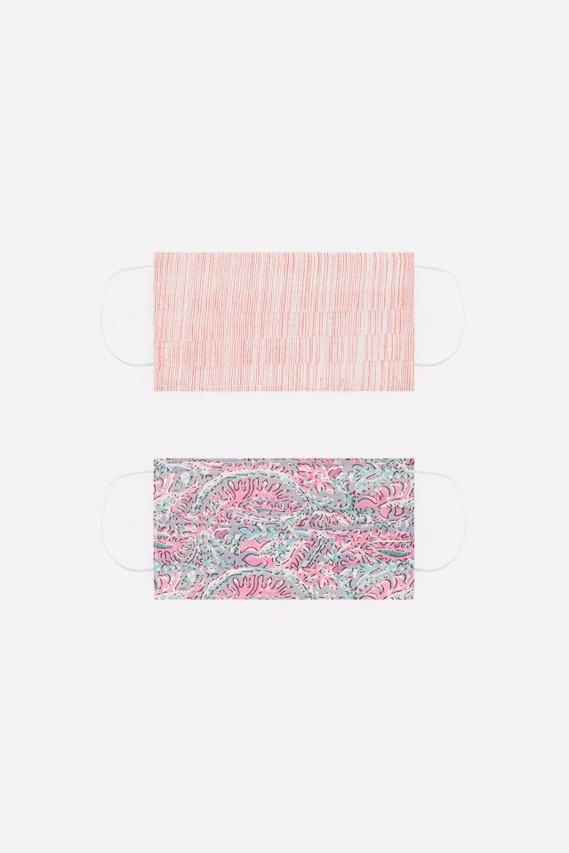 Paquete de 2 unidades Mascarilla de algodon organico rosa