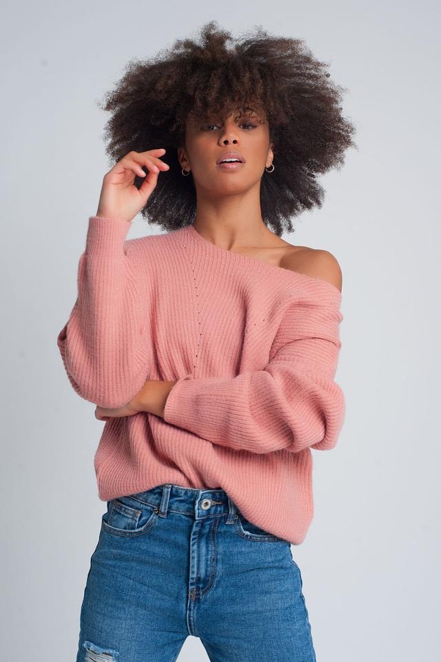Jersey con diseño texturizado en rosa