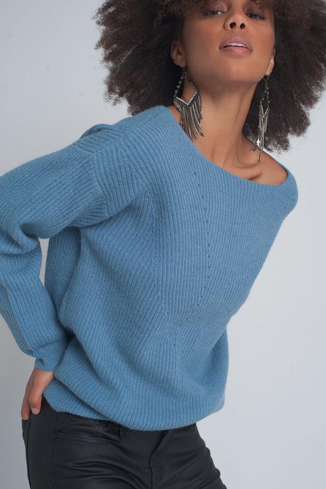 Jersey con diseño texturizado en azul