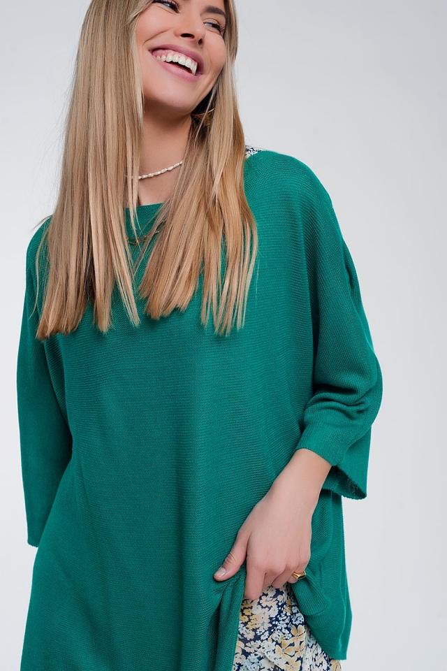 Jersey con manga 3/4 en verde