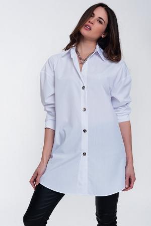 Camisa blanca de estilo boyfriend