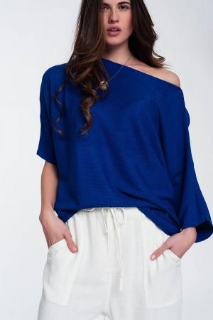 Jersey con manga 3/4 en azul