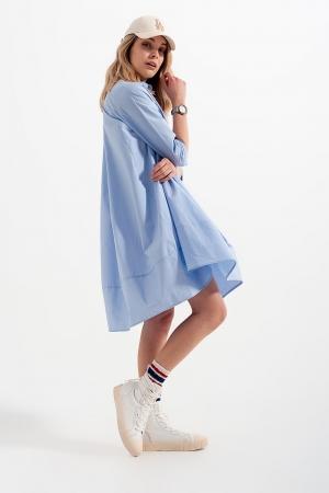 Vestido camisero extragrande azul