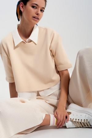 Camiseta corta crema