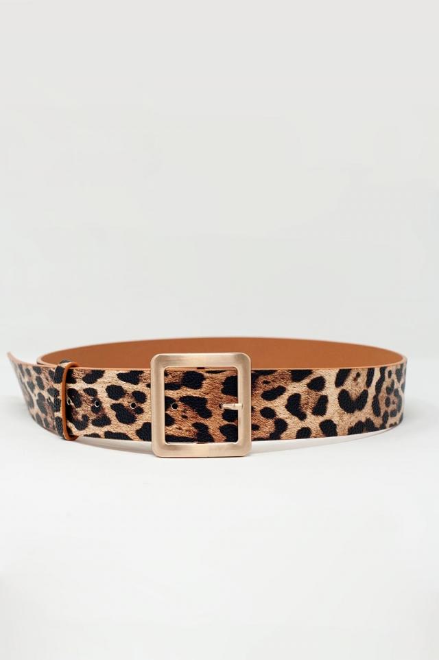 Cinturón con estampado de leopardo